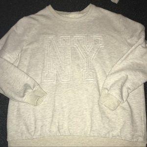 NY crew neck sweater