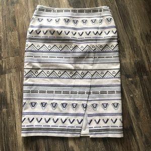 NWOT White House Black Market Embroidered Skirt