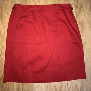 ANN TAYLOR LOFT Womens Size 4 red Pencil Skirt