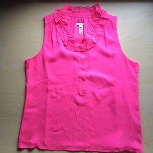 J. Crew NWOT Pink Blouse Ruffles SIZE 12