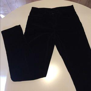 J Brand skinny leg velvet pants