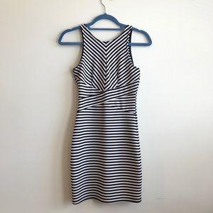 Blue and White Striped Aqua Dress