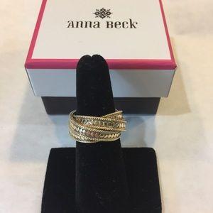 Anna Beck Woven Ring, 18K gold