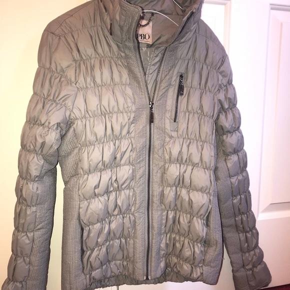 PBO Gray Down Coat Size 8