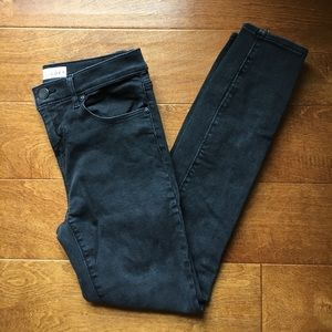 LOFT black high rise skinny jeans