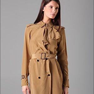 3.1 Phillip Lim silk trench coat with storm flap