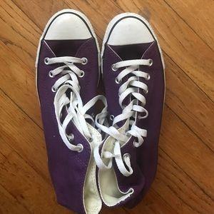 High top purple converse