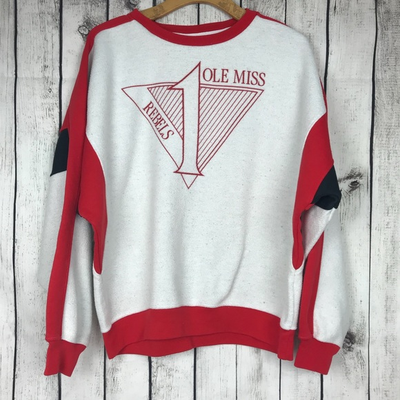 43a6e811 Gear For Sports Sweaters - Vintage OLE MISS REBELS sweatshirt pullover Large