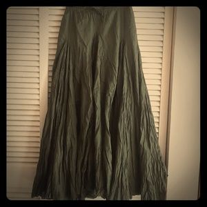 X-TRA FULL  flare olive skirt