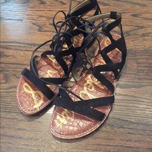 Sam Edelman black suede sandals