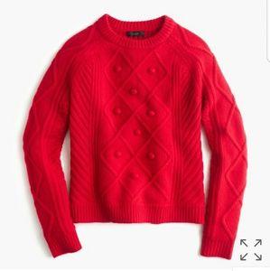 J. Crew pom pom sweater