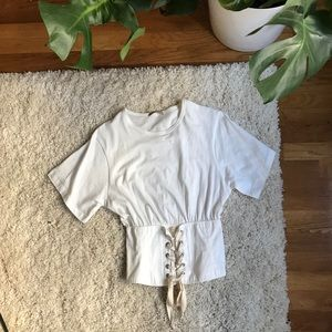 Zara XS corset tee (brand new never worn)