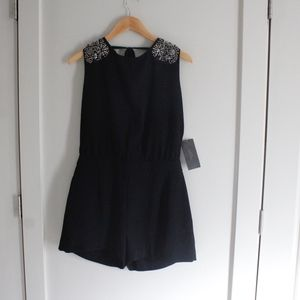 ZARA NWT  black embellished romper