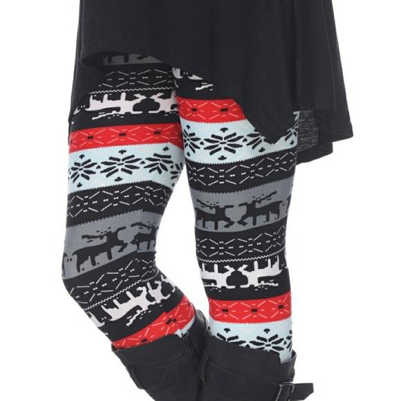 plus size christmas leggings
