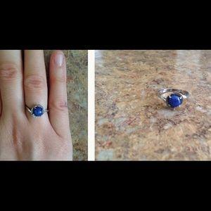 Jewelry - 14 K White Gold Antique Purple Jade Ring