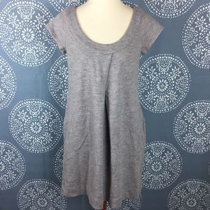 DVF Gray Wool Cap Sleeve Dress