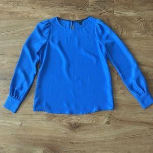 J.crew blue silk blouse xs