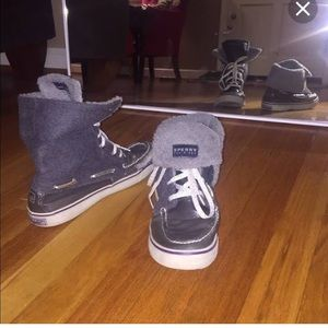 Sperry fold over boot