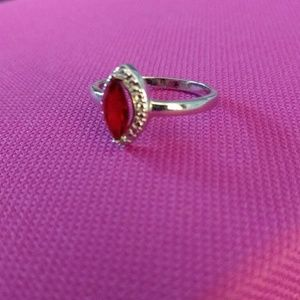 Red with halo ring