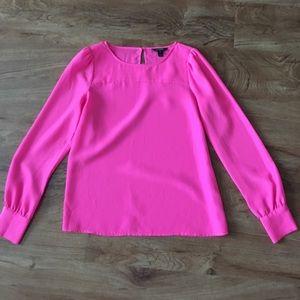J.crew pink silk blouse xs