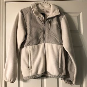 White and grey The North Face jacket