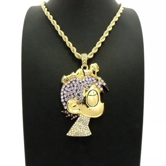 Accessories lil uzi vert cartoon hip hop necklace pendant set lil uzi vert cartoon hip hop necklace pendant set aloadofball Images