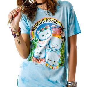 UNIF Meowie Wowie Graphic Tee in XS RARE