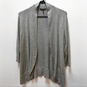 Eileen Fisher Grey Italian Yarn Cardigan Sweater