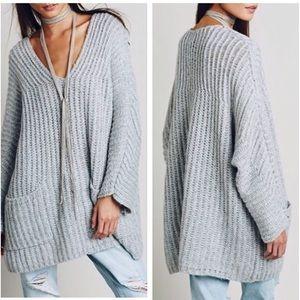 Sweaters - NWT Oversized V-Neck Pocket Sweater