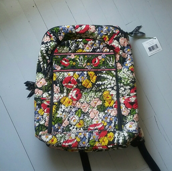 4eeeaaa4d4de VERA BRADLEY Poppy Fields Laptop Bag