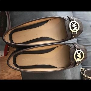 mk brown shoes