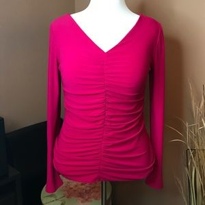 Naciso Rodriguez Ruched Raspberry Top