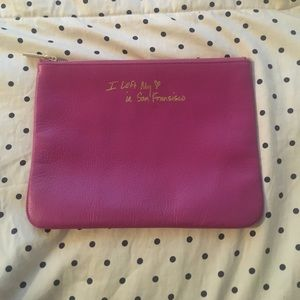Rebecca minkoff large compartment pouch clutch