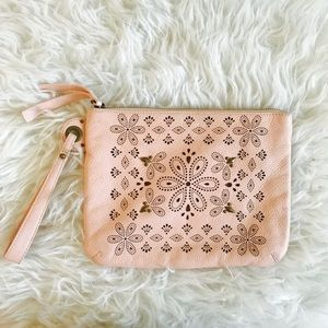 Anthropologie Miss Albright  Lasercut Wristlet