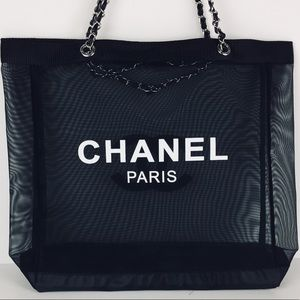 🌪Auth Chanel VIP Gift Mesh tote with Silver SHW