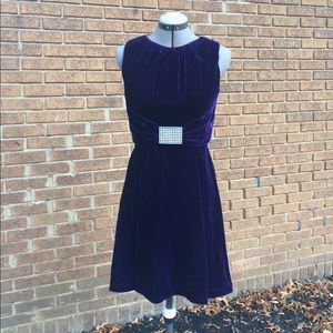 Vintage deep purple velvet evening dress Sz S