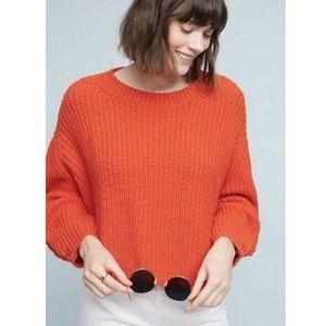 Anthro Orange Sweater