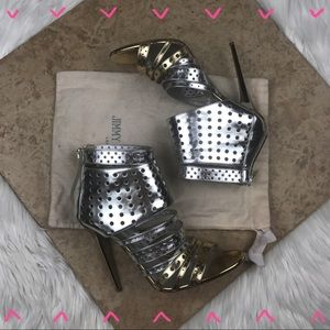 Metallic and gold Jimmy Choo caged heels size 42
