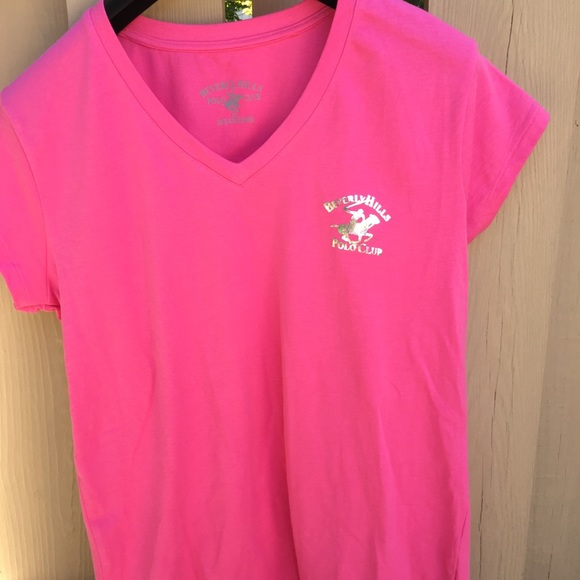 528995b7b2dd Beverly Hills Polo Club Tops - Beverly Hills Polo Club pink women's tee  shirt XL