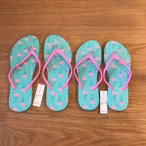 NWT Old Navy Flamingo Flip-Flops