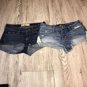 Hollister Jean Shorts Bundle- Set of 2