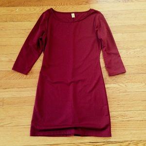 OLD NAVY Petite Burgundy Jersey Shift Dress