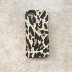 J Crew iPhone 5 cheetah print case