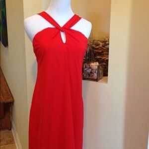 Red athleta dress