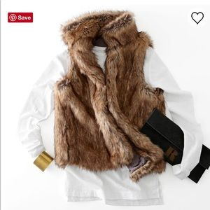 NWOT mark & graham faux fur vest