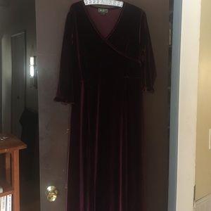 Eddie Bauer velvet dress.