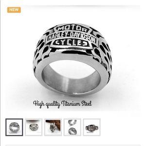 👍🏻Bad Ass Harley Davidson Titanium Ring👍🏻