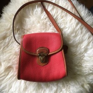 Vintage Red Dooney & Bourke Leather Crossbody