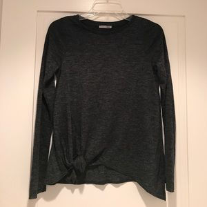 Zara Long Sleeve Tie Top
