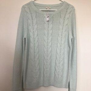 Women's Medium J. Crew Sweater - Light Blue NEW